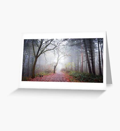 Forest Fog Greeting Card