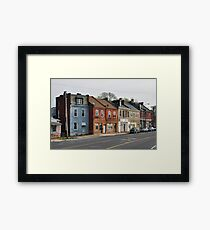 Broadway Streetscape Framed Print