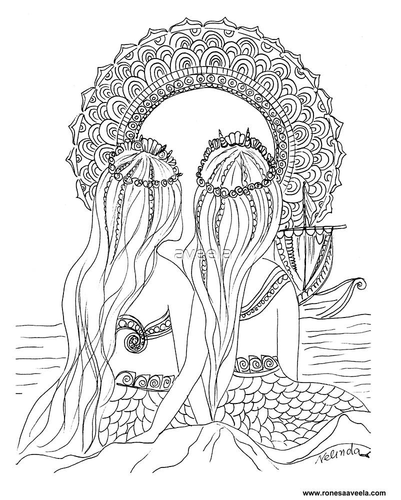 Ne Hwas – Native American (Passamaquoddy) #Mermaids  by aveela