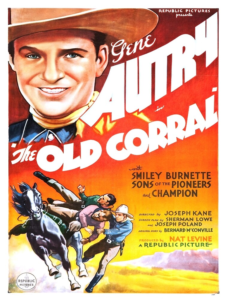 Vintage poster - The Old Corral by mosfunky