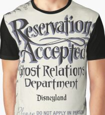 Reservations Accepted at Ghost Relations Department by Topher Adam 2016 Graphic T-Shirt