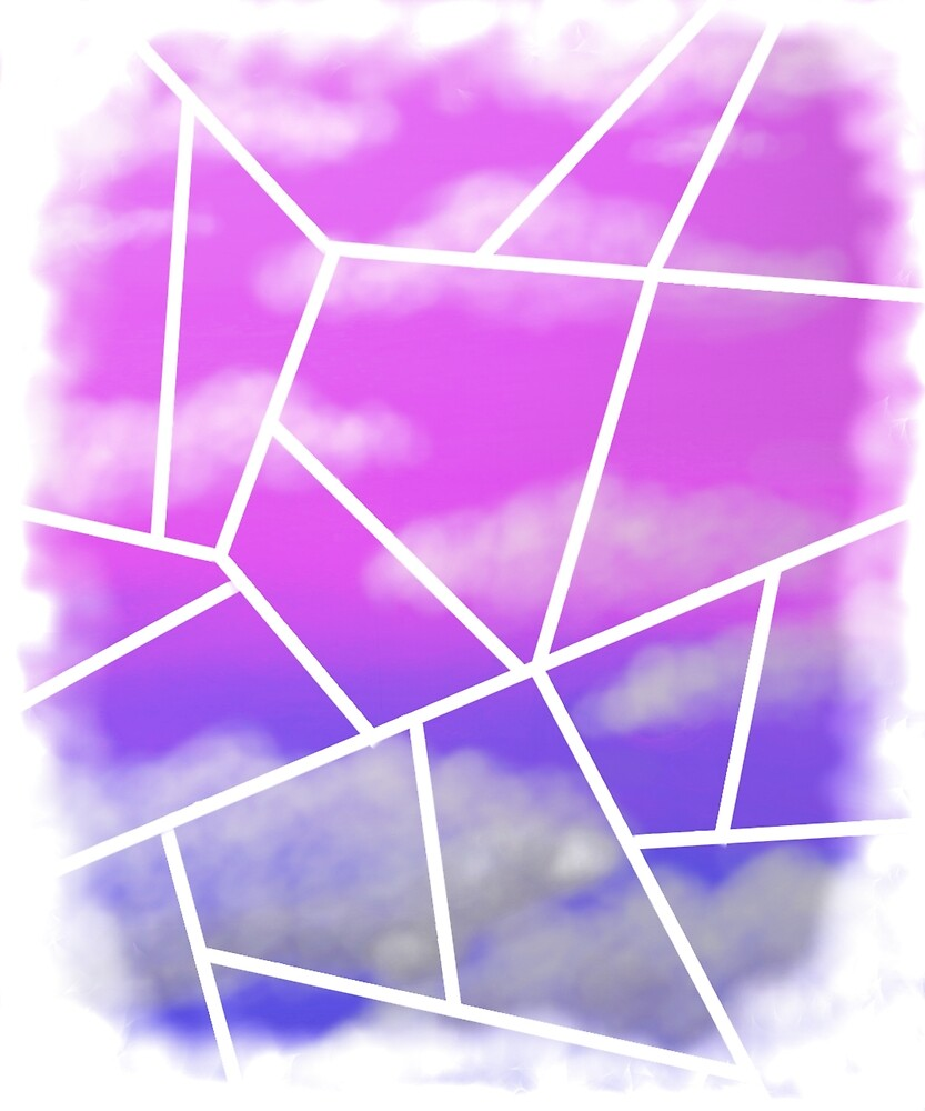 geometric clouded sky fade by connorart