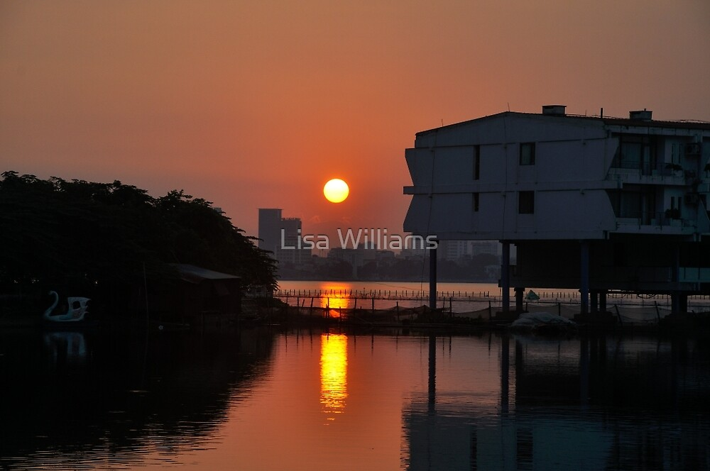 Sunset Over Hanoi by Lisa Williams