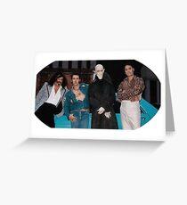 Tarjeta de felicitación Qué hacemos en la foto de grupo de las sombras