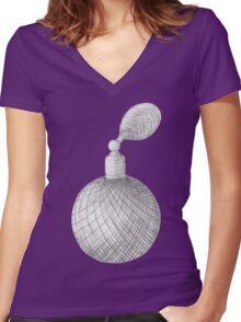 Aroma Women's Fitted V-Neck T-Shirt