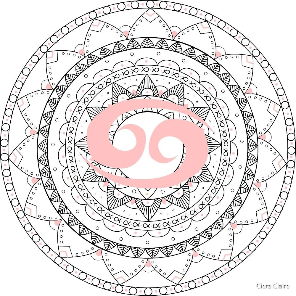 Cancer Mandala by Ciera Claire