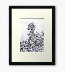 Saphira (BW) Framed Print