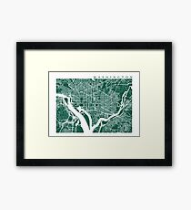 Washington DC Map Art  Framed Print