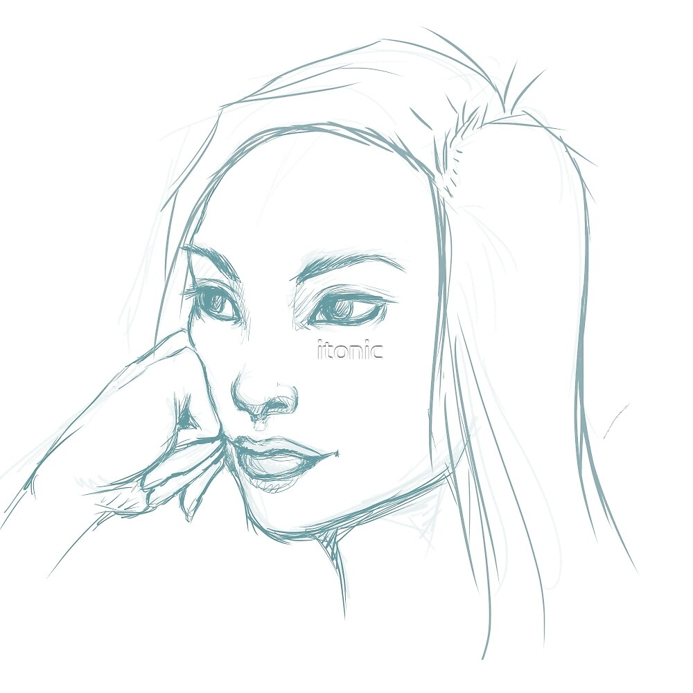 Pensive Sketch by itonic