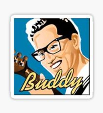 Retro Buddy Holly Sticker Sticker
