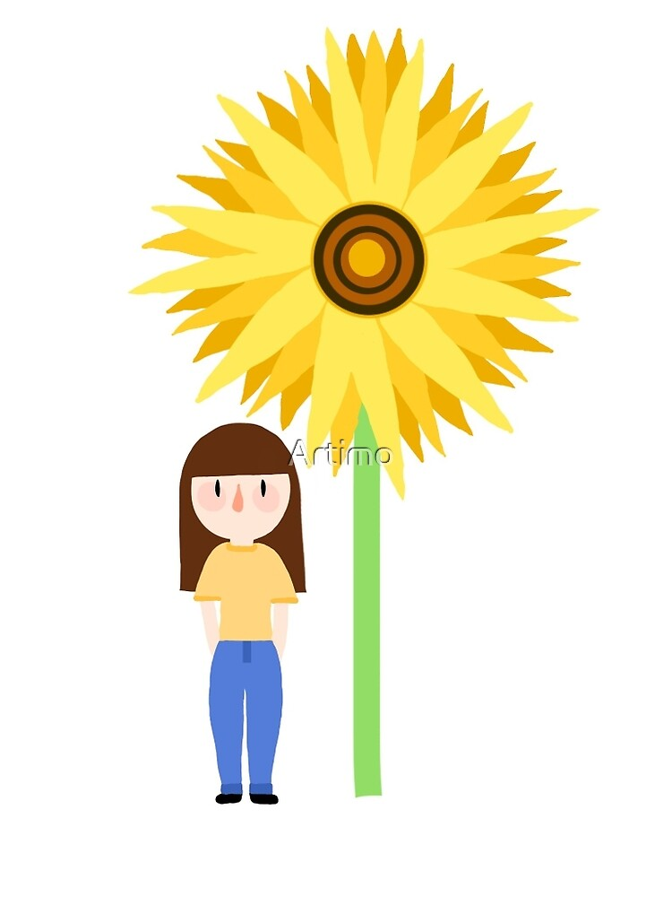 Jess and sunflower by Artimo
