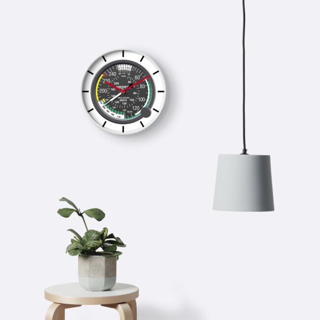 Aviation Air Speed Indicator Clock by skyhawktees