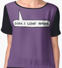 Gosh I Love Arrows Women's Chiffon Top