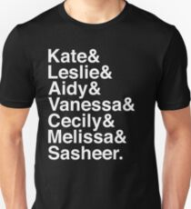 SNL Girl Gang in White Helvetica: 2010s T-Shirt