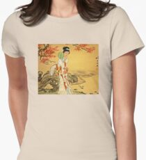 Geisha in Autumn Leaves T-Shirt