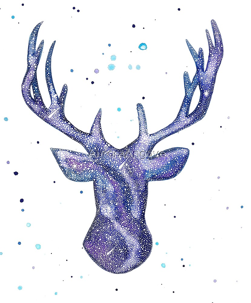 Galaxy Deer  by AuroraAngove