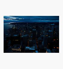Seattle at Night Photographic Print