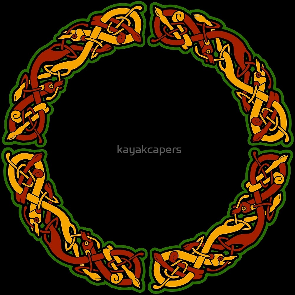Celtic Dog round design by kayakcapers