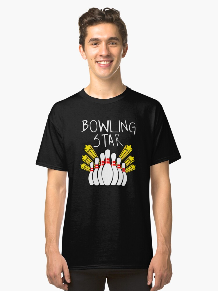 Bowling Star Funny Bowling Apparel Classic T-Shirt Front