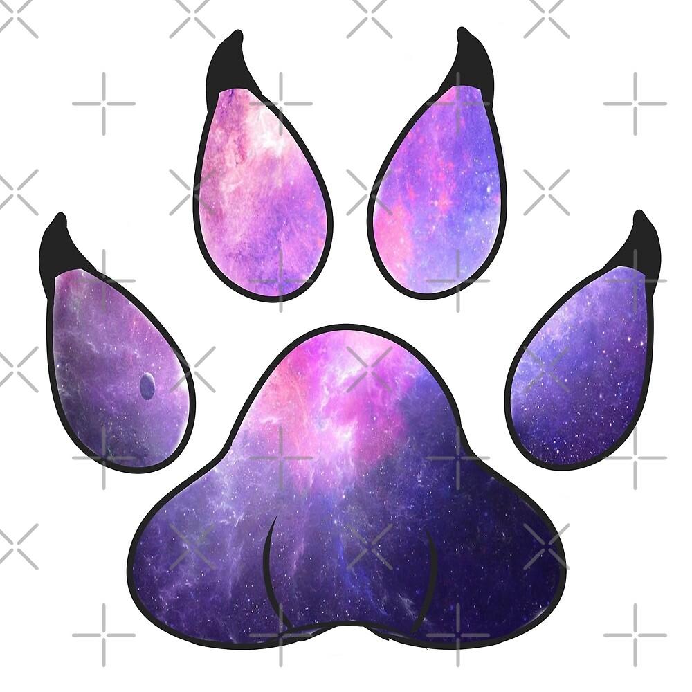 Galaxy Paw Prints by Catdragon7