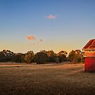 Glow of the setting Sun on Building Shell - Coogee, W.A. by Sandra Chung