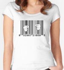 Captured By Consumerism UPC Barcode Prison Women's Fitted Scoop T-Shirt