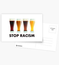Stop Alcohol Racism Beer Equality Postcards