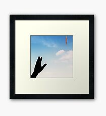 You are almost there. Framed Print