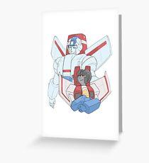 Transformers G1 - Starscream + Skyfire Greeting Card