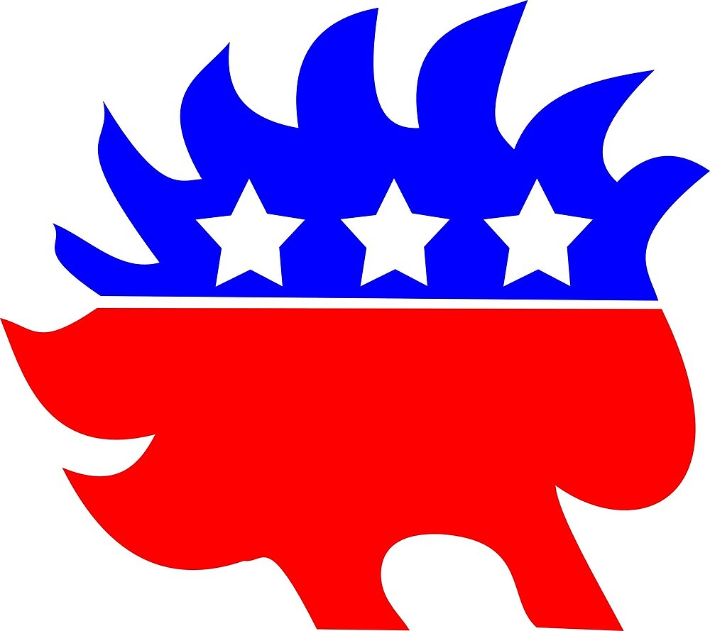 Democrat Porcupine by 99hamiltonl