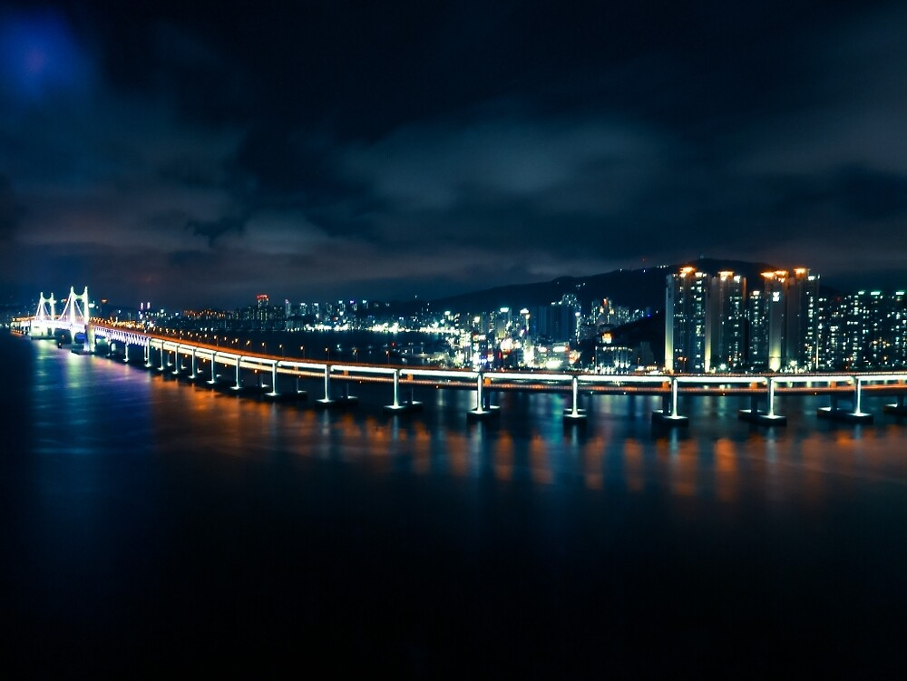 Gwangandaegyo Bridge (부산 광안대교) by Michael Stocks