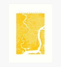 Philadelphia (Gelb) Kunstdruck