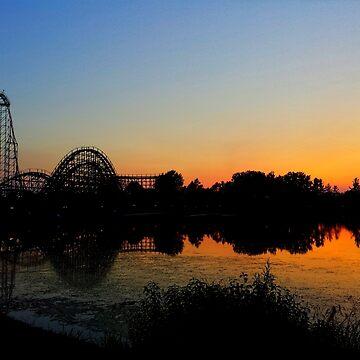 Sunset Roller Coaster by danimariex