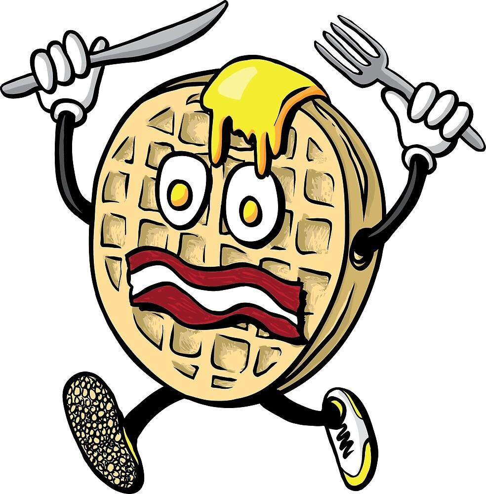 Mr. Scaredy Waffle by rebeccaeilering