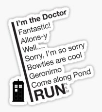 Catchphrases by the Doctor Sticker