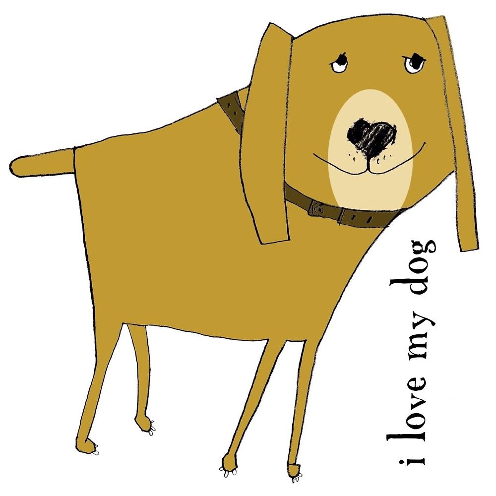 I love my dog by margaretafriden