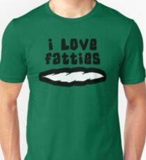 """""""I Love Fatties"""" Weed Marijuana Cannabis T-Shirt"""
