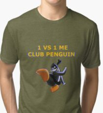 1v1 Me Club Penguin Tri-blend T-Shirt