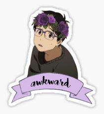 Yuri!!! on Ice - Yuri Katsuki Flower Crown Sticker