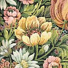 Grandma's Couch Vintage Floral by yonni