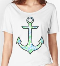 Tie Dye Cute Anchor Women's Relaxed Fit T-Shirt