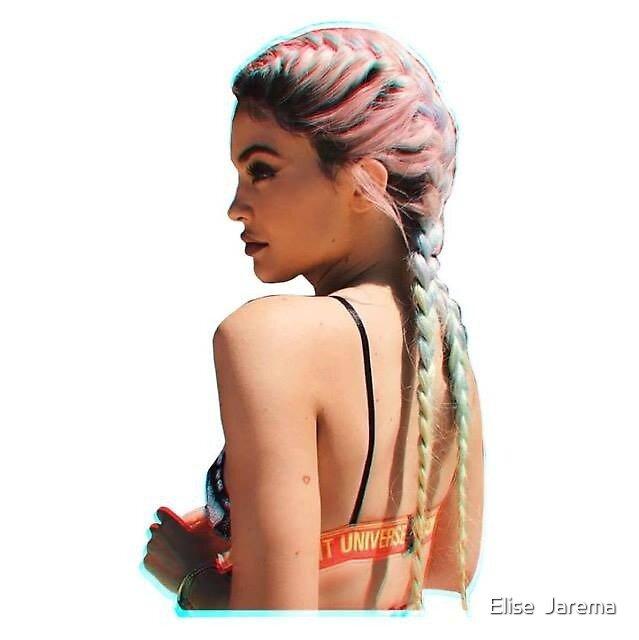 Kylie Jenner rainbow braids by Elise  Jarema