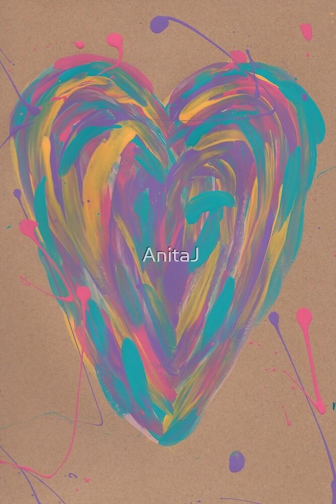 Painted Heart by AnitaJ