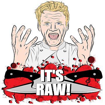 "Gordon Ramsay, ""It's Raw!""  by DeviantNerd"