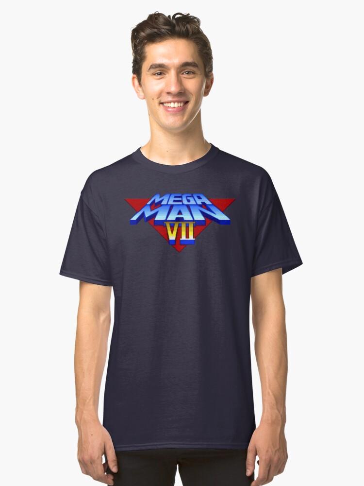 Mega Man 7 (SNES Title Screen) Classic T-Shirt Front