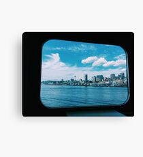 Seattle on Water Canvas Print