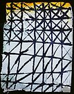 Grid with gauze yellow by donna malone