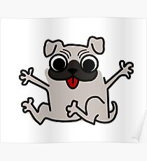 It's a pug cartoon Poster