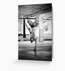 Standing with your hand Greeting Card