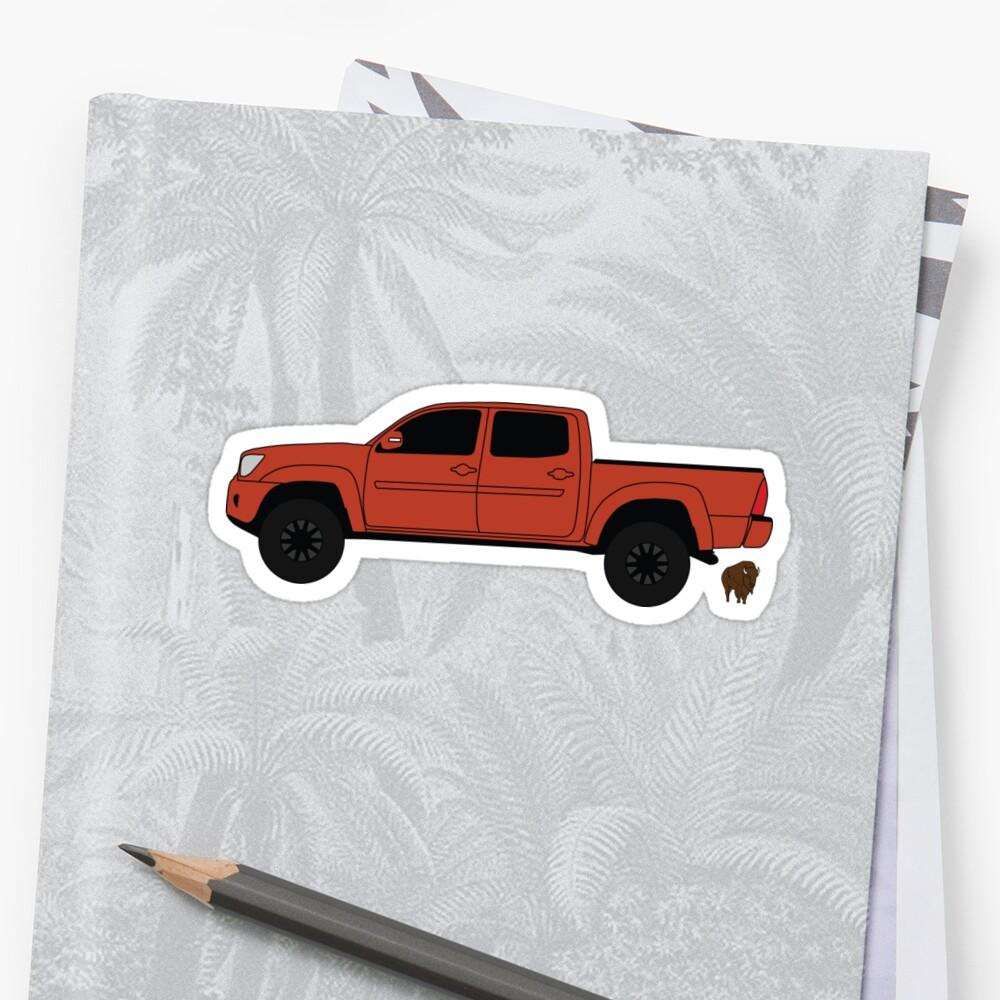Orange Toyota Tacoma by Noble Bison